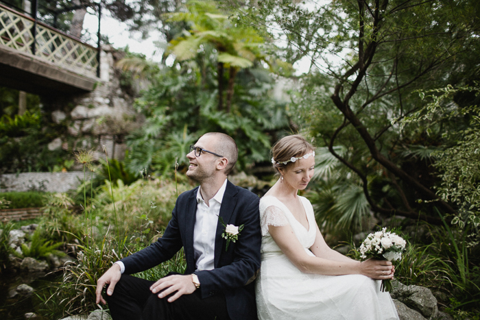 intimate wedding in botanical garden of gibraltar