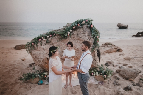intimate wedding in the beach