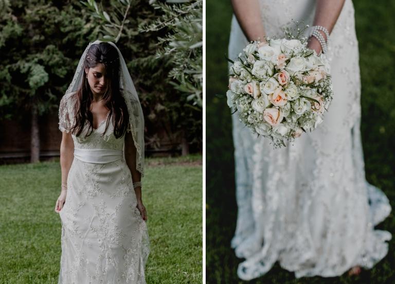 bride portrait with the bouquet