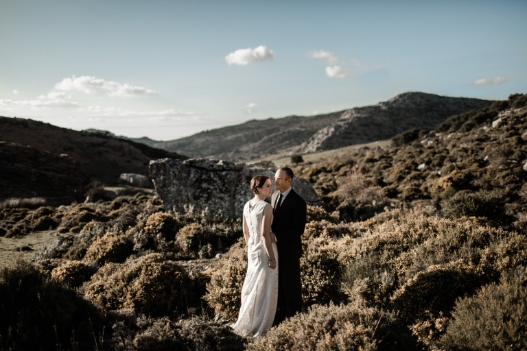 couple photo session in ronda country fields