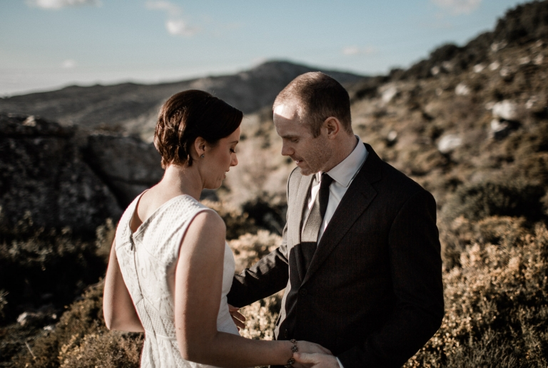 wedding photo session in ronda country fields