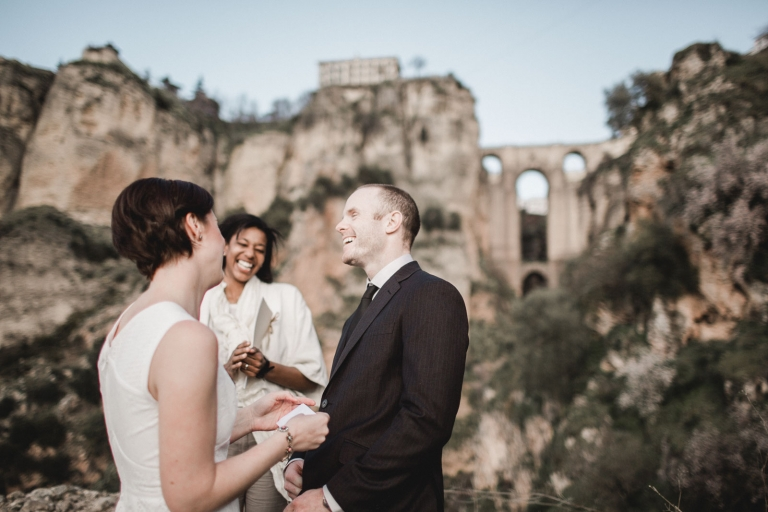 elopement wedding in ronda